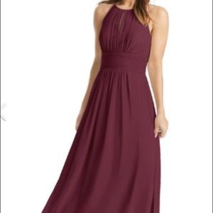 Azazie Bonnie dress in shade Cabernet size A4!